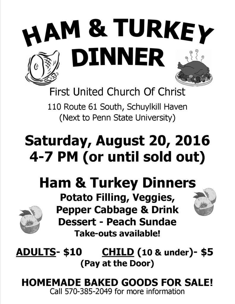 August 2016 Dinner