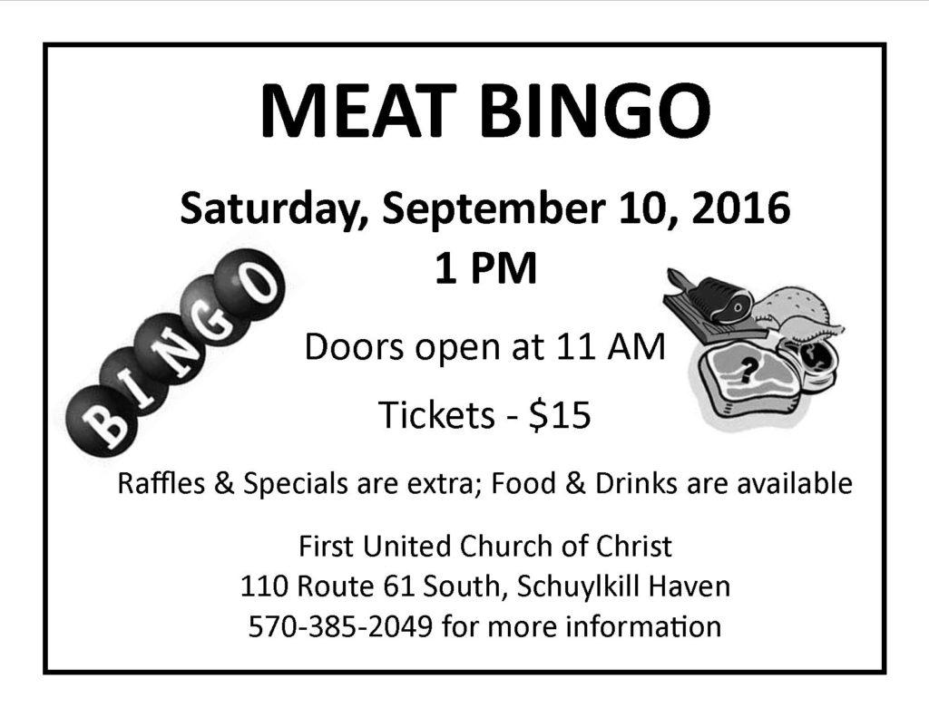 Meat BINGO 9-10-2016