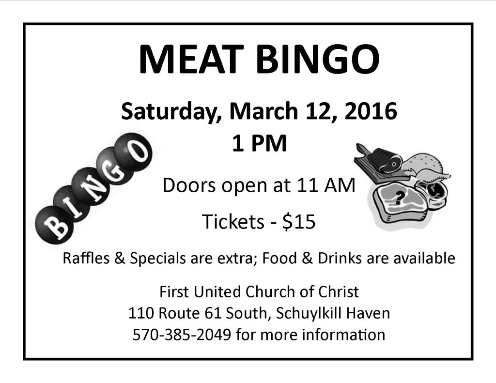 Meat BINGO 3-12-2016